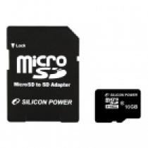 Silicon Power 4GB Micro Secure Digital Card CL10 + SD adapter